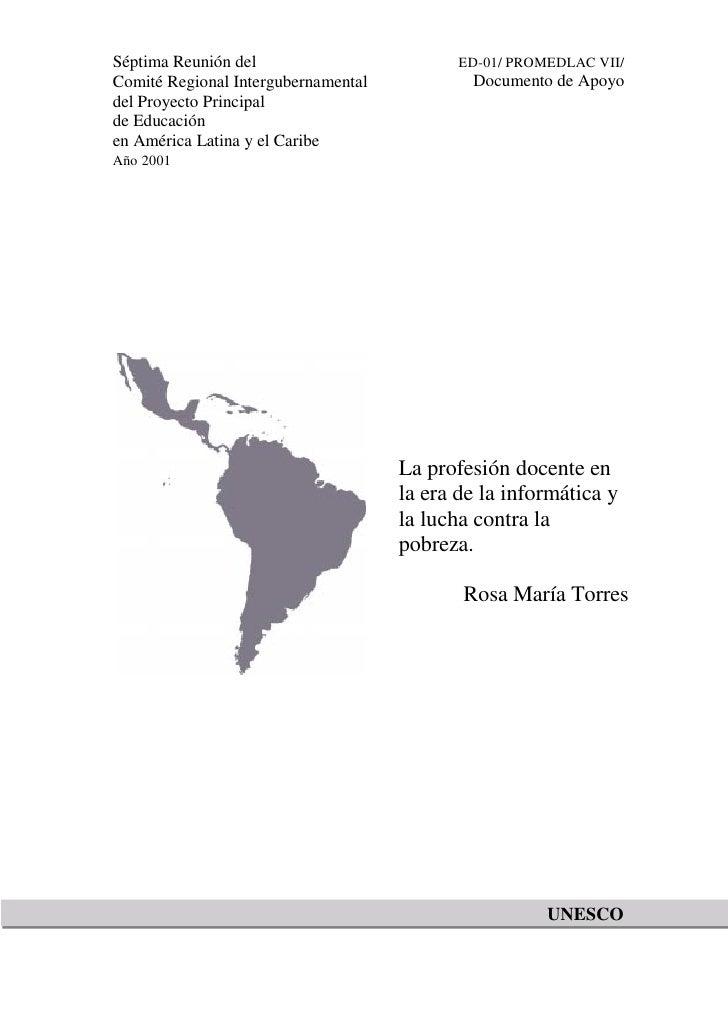 Séptima Reunión del                         ED-01/ PROMEDLAC VII/Comité Regional Intergubernamental           Documento de...
