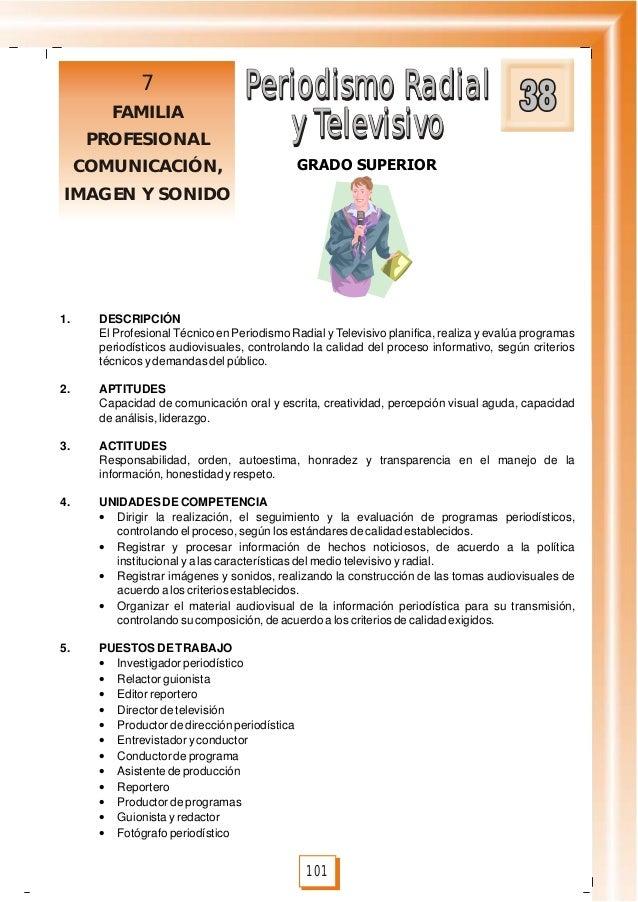 Periodismo Radial y Televisivo Periodismo Radial y Televisivo 101 GRADO SUPERIOR 7 FAMILIA PROFESIONAL COMUNICACIÓN, IMAGE...