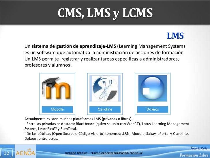 CMS, LMS y LCMS                                                                                               LMS       Un...