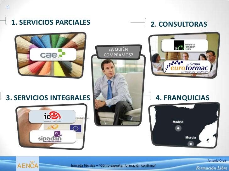 15     1. SERVICIOS PARCIALES                                          2. CONSULTORAS                                     ...