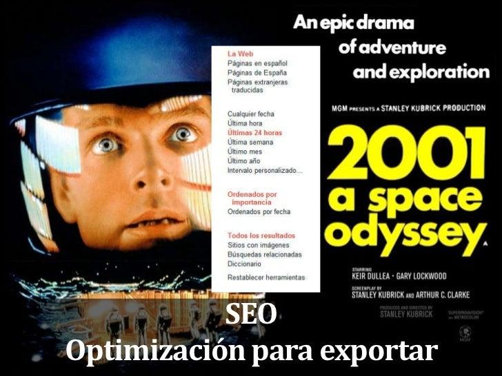 22                SEO     Optimización para exportar