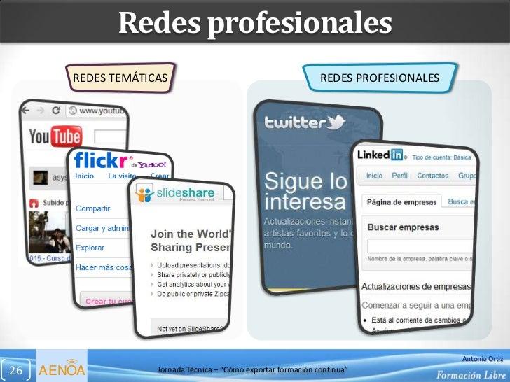 Redes profesionales        REDES TEMÁTICAS                                          REDES PROFESIONALES                   ...
