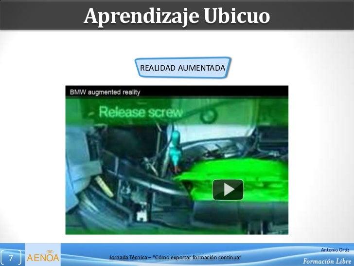 Aprendizaje Ubicuo                         REALIDAD AUMENTADA                                                             ...