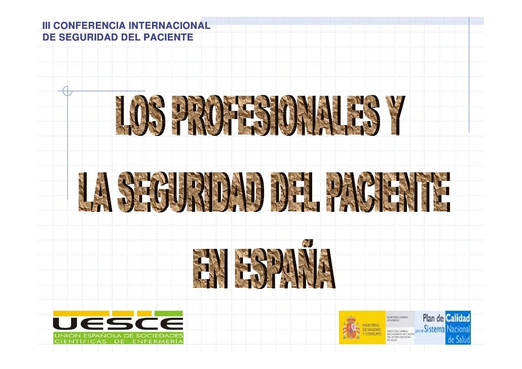 III CONFERENCIA INTERNACIONAL DE SEGURIDAD DEL PACIENTE