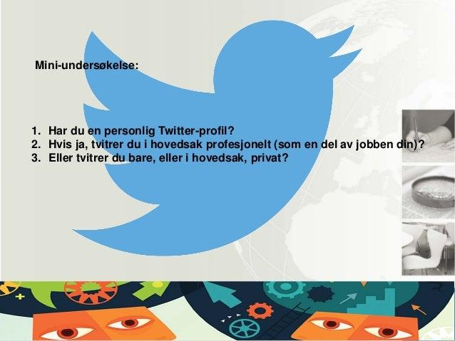 Profesjonell eller privat i sosiale medier? Slide 2