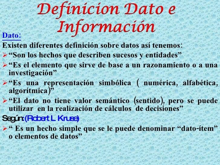 datos e informacion Slide 2
