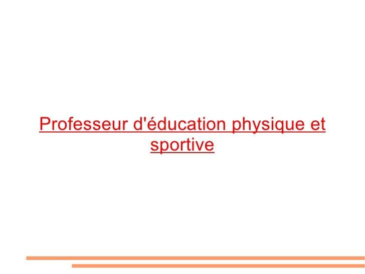Professeur d'éducation physique et sportive