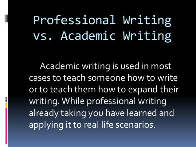 Comparison of Business and Academic Writing
