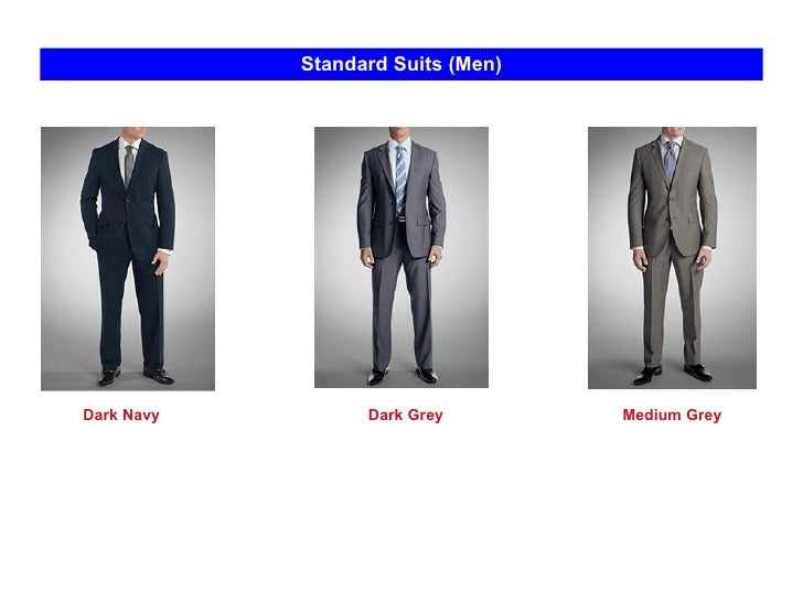 Standard Suits (Men) Dark Grey Dark Navy Medium Grey