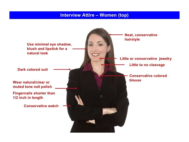 Interview dress code female images in the media