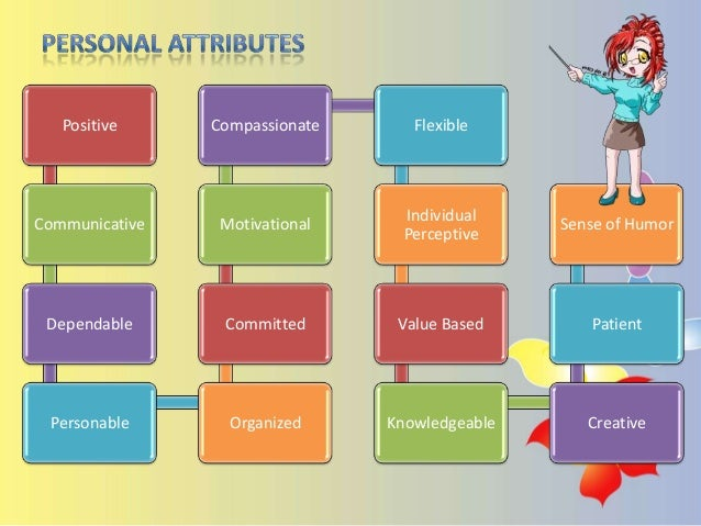 attributes of a professional teacher However, considerable disagreement surrounds what specific teacher attributes indicate quality and how to better invest resources to provide quality teachers for all students recommending that authority over these matters be shifted from public officials to professional organizations.