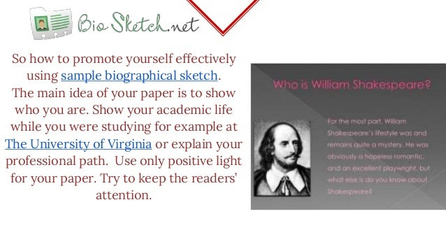writing a biographical sketch example
