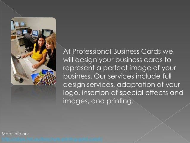 Professional Business Cards For Professional Services