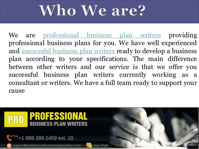professional business plan writers