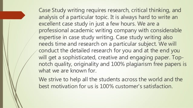 Professional case study writing courses