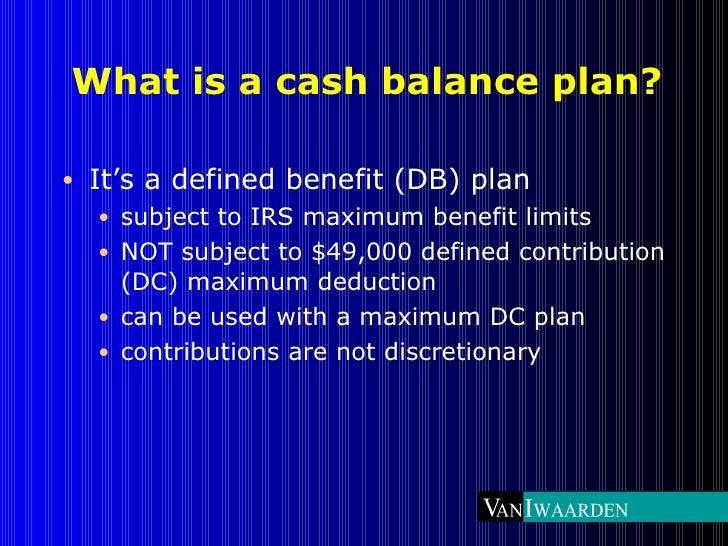 Professional firm cash balance plans Slide 2