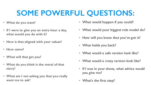 How to Really Listen & Ask Powerful Questions - Professional Coaching…