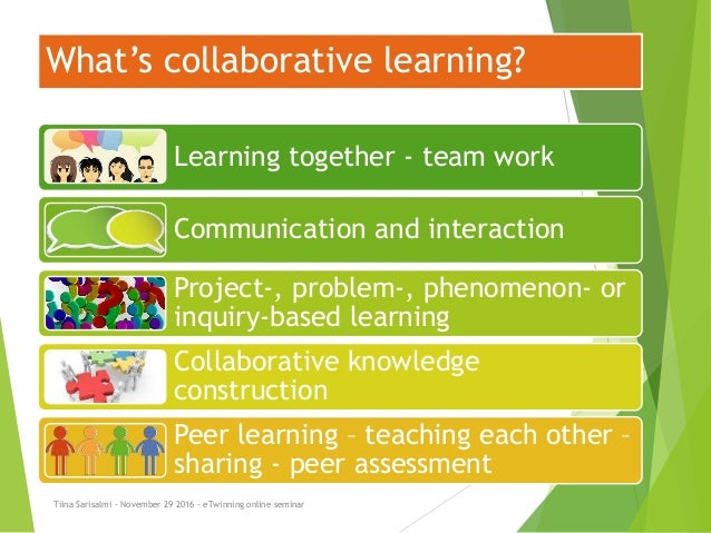 Collaborative Based Teaching ~ Online learning and professional collaboration