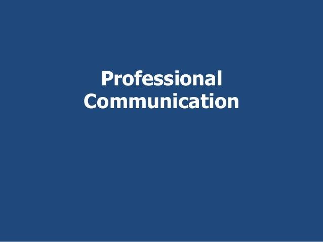ProfessionalCommunication