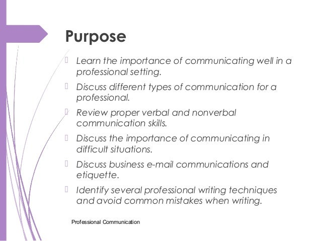 purpose and importance of communication
