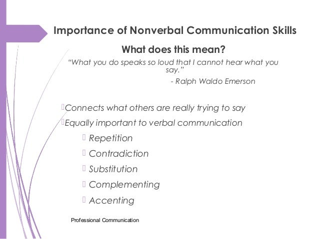importance of professional communication