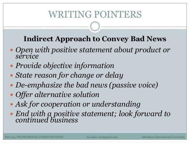Professional communication 3 examples albukhary international university 15 writing pointers indirect approach spiritdancerdesigns Choice Image