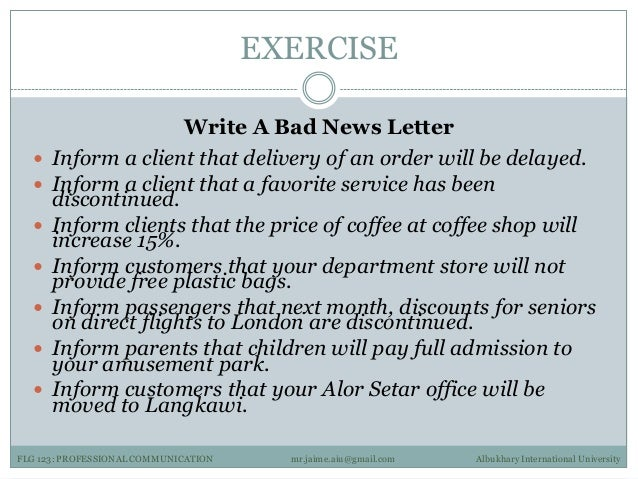 How To Write A Letter Informing Customers Of Rate Increase