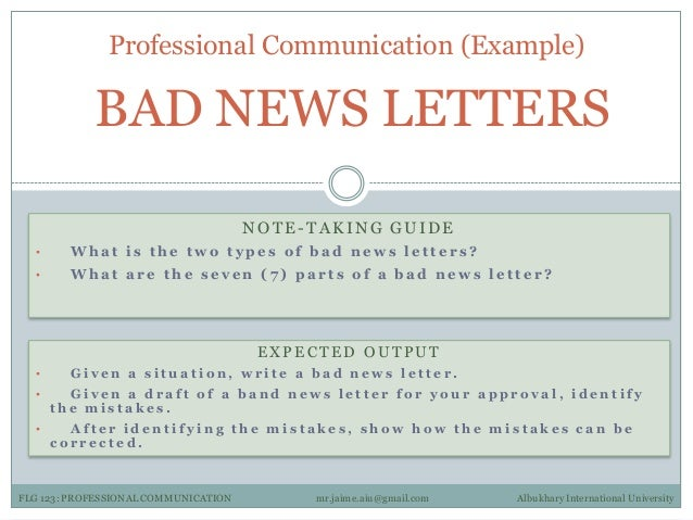 How to Write a Bad News Letter to Clients