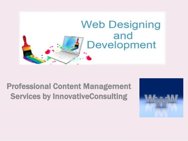 Professional Content ManagementServices by InnovativeConsulting