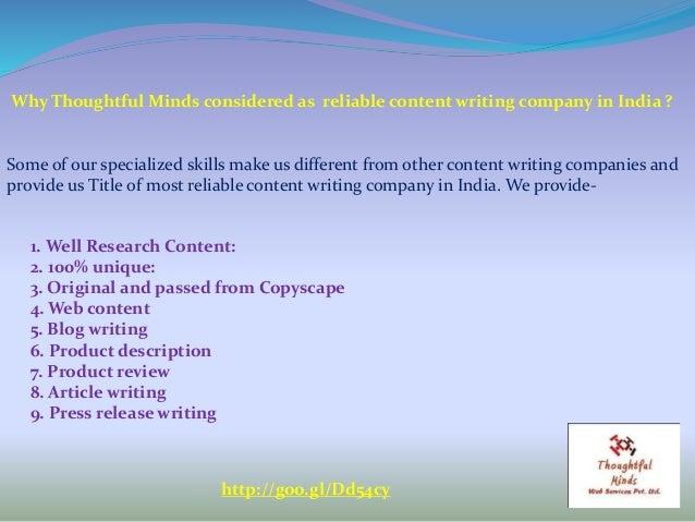Article writing company india