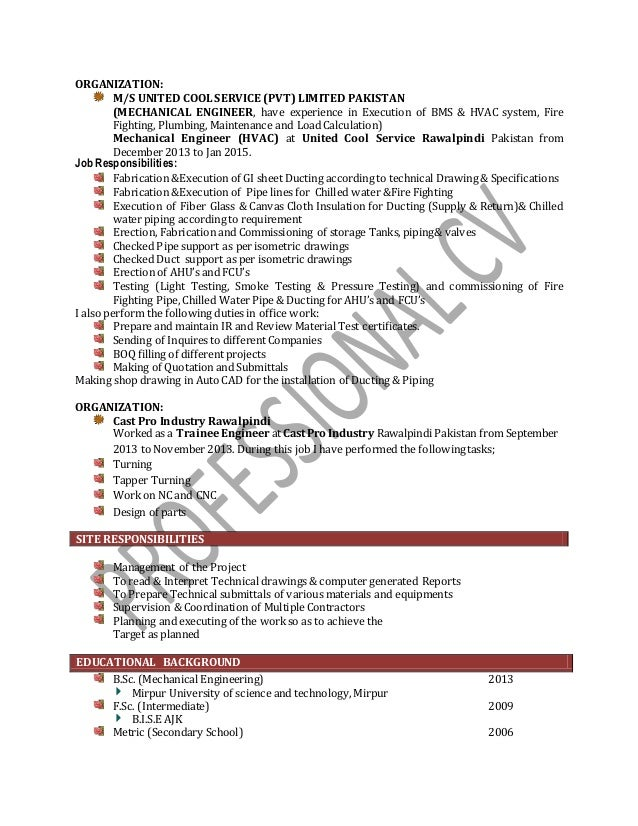 Mechanical/HVAC Engineer