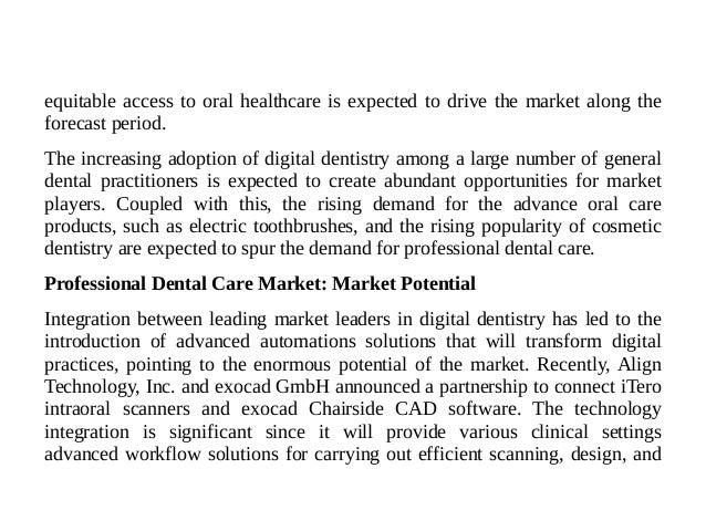 Professional Dental Care Market - Rise In Awareness