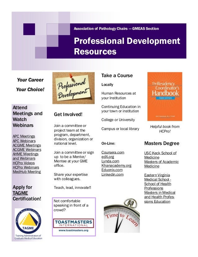 Professional Development Resources For Program Coordinators