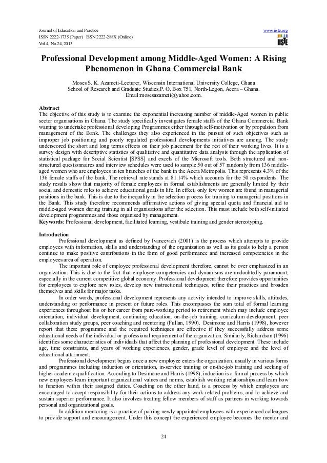 Journal of Education and Practice ISSN 2222-1735 (Paper) ISSN 2222-288X (Online) Vol.4, No.24, 2013  www.iiste.org  Profes...