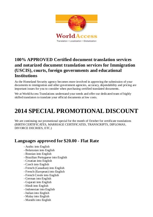 Translations Into Italian: Professional Document Translation Services World Access