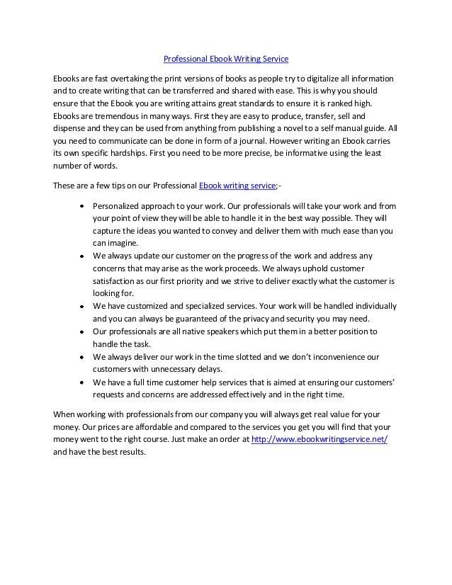 Ebook writing service