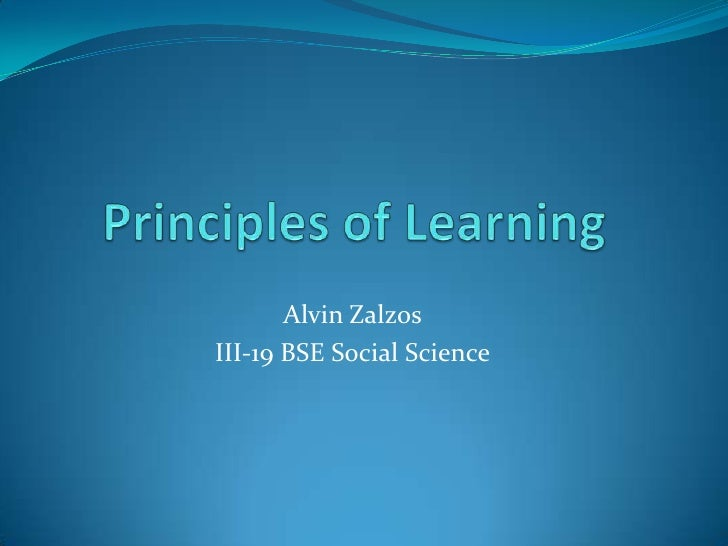 the principles of learning 25 learning principles to guide pedagogy and the design of learning environments applying the science of learning: what we know about learning and how we can.