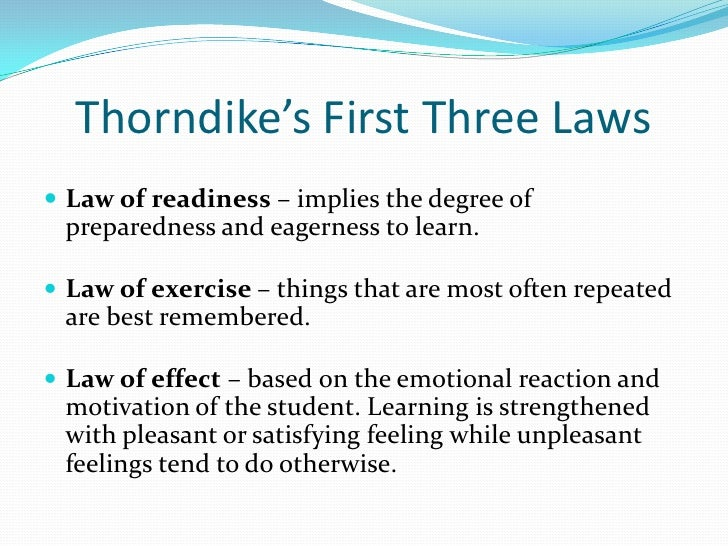 thorndike and the law of effect