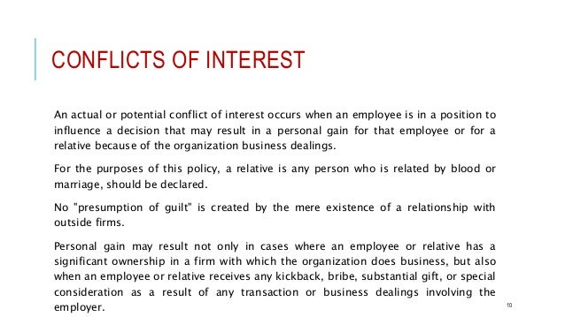Professional ethical conduct conflicts of interest expocarfo Image collections