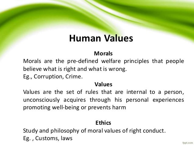 Human Services: Personal Values & Ethical Standards