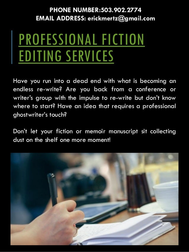 Professional fiction editing services