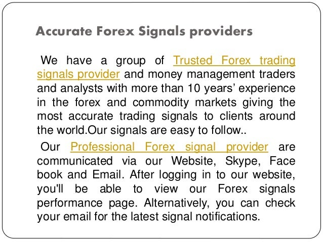 Professional forex signal providers