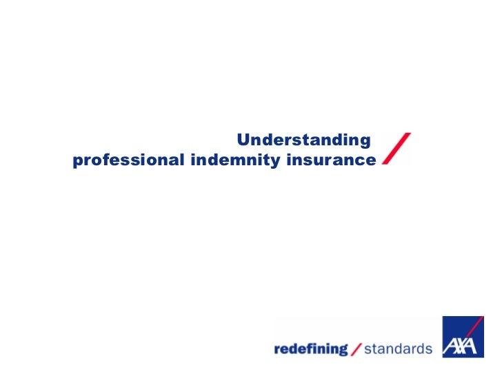 Understandingprofessional indemnity insurance