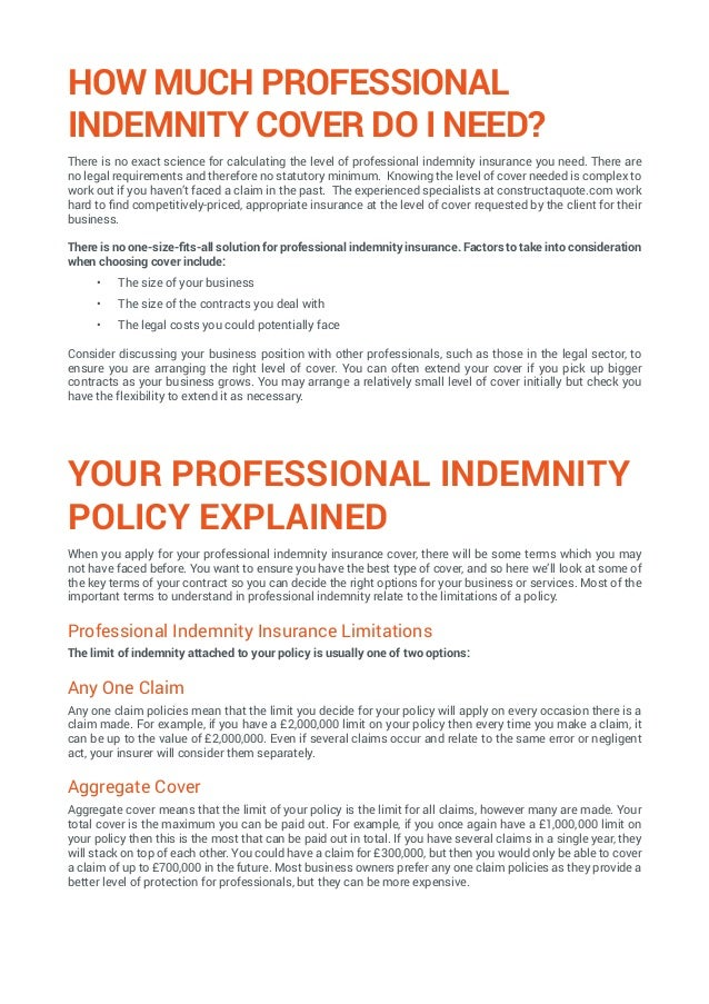 Professional Indemnity Insurance Ultimate Guide