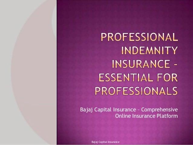 Bajaj Capital Insurance – Comprehensive Online Insurance Platform  Bajaj Capital Insurance