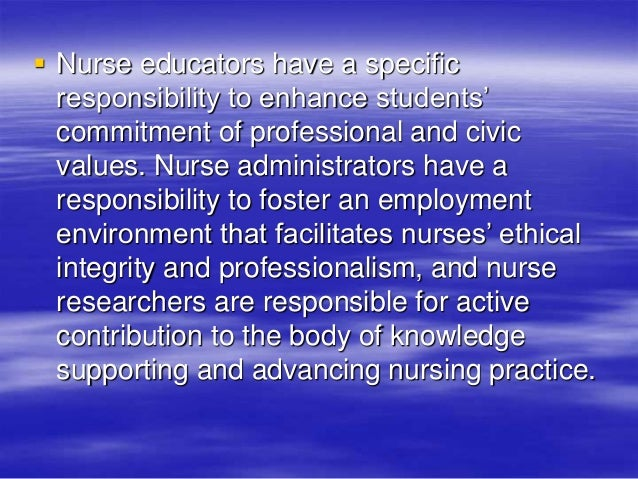 concepts of integrity in nursing