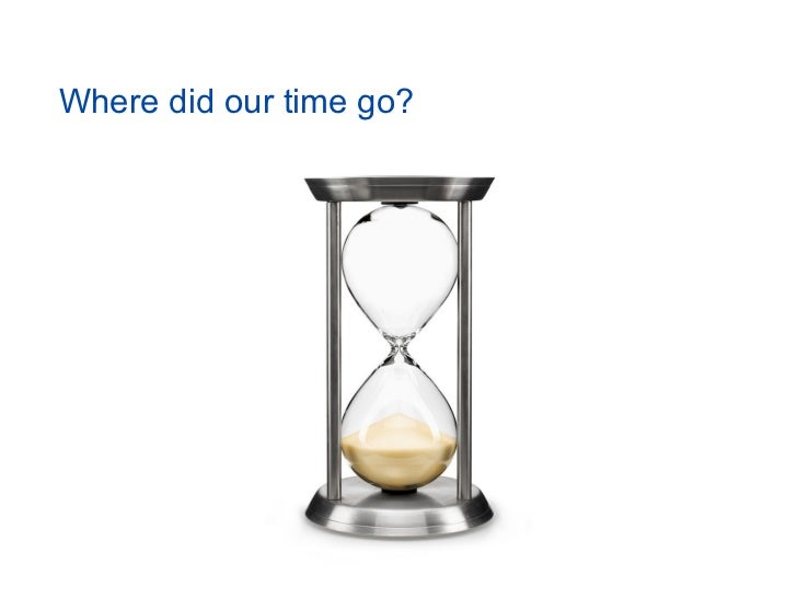 Where did our time go?
