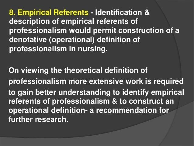 empirical referents of caring