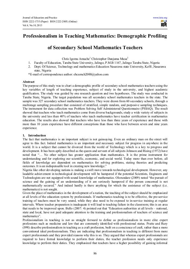 teaching secondary school mathematics pdf