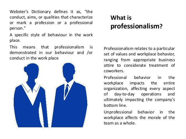 professionalism in the workplace training